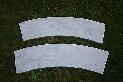 VERY UNUSUAL    VICTORIAN CURVED MARBLE BAR  / COUNTER DISPLAY SHELVES
