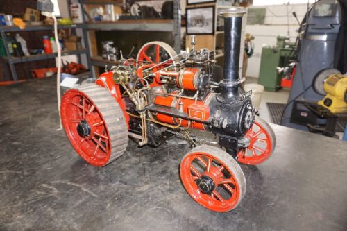 """Large Live Traction Steam Engine, Scratch Built, 32"""" long."""