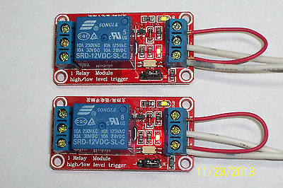 Usa 2 Pcs - 12vdc - 1 Channel Highlow Level Input Opto Relay Board New