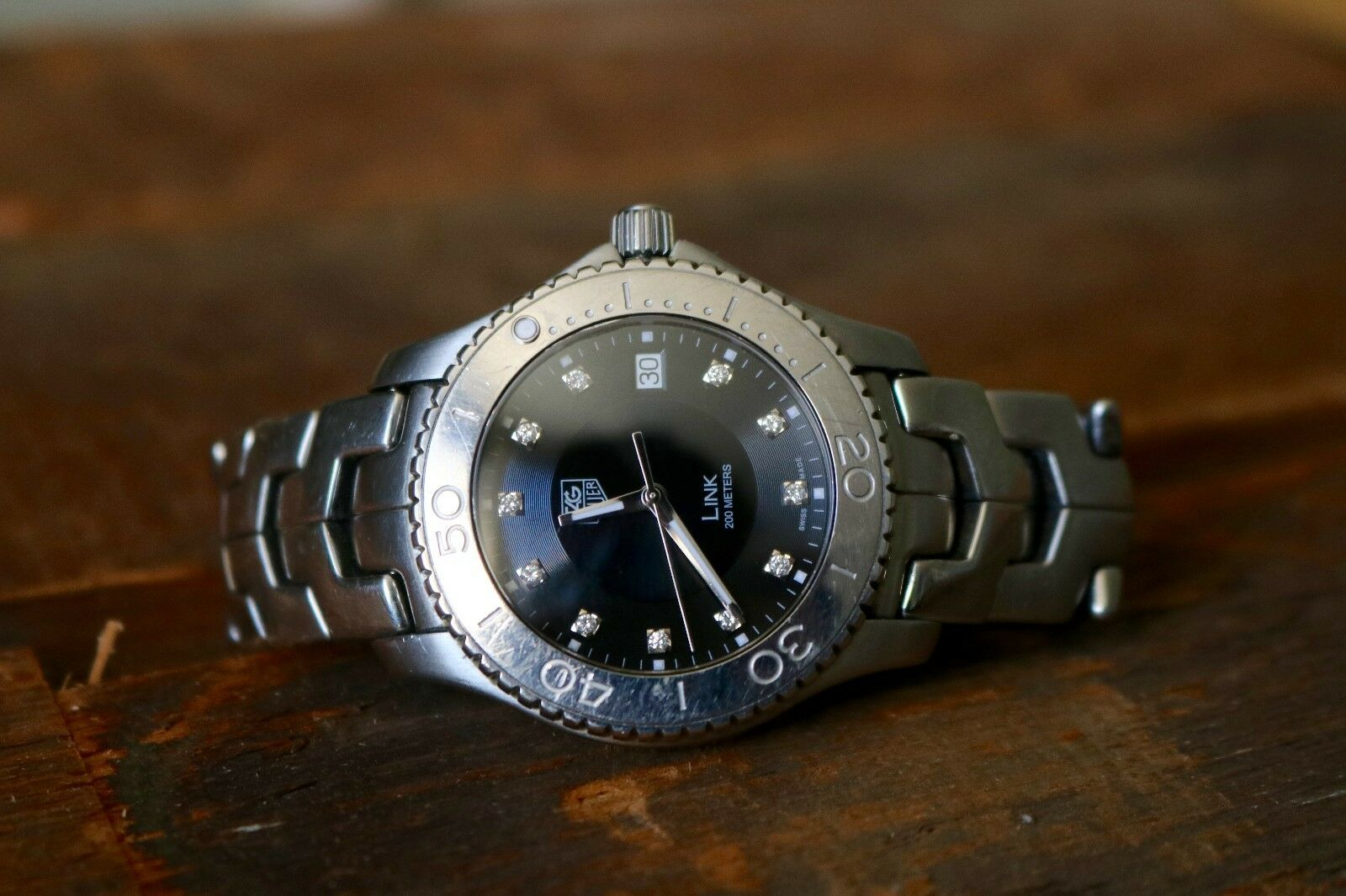 $800.00 - Tag HeuerLink Diamonds Men's Watch PRE-OWNED Model:WJ1113.BA0575