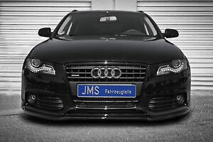 JMS-Racelook-Frontspoilerlippe-fuer-Audi-A4-B8-Limousine-Avant-ohne-S-Line