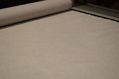 Oatmeal 8 OZ. Canvas Duck 100% Flax Linen Fabric Natural Fiber 60
