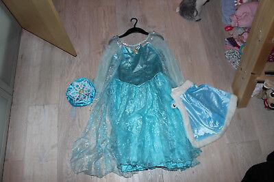 Fasching Eiskönigin Kostüm Original aus Disneyland mit Tasche und Umhang 7-8 J. - Disneyland Kostüm
