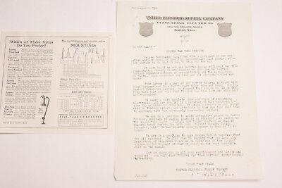 1918 Lamson Goodnow WW1 United Electric Supply Co Leaflet Boston-Ephemera-L140A