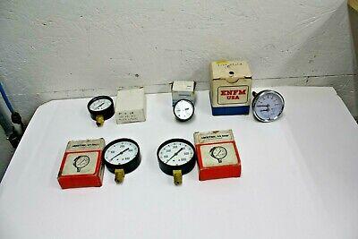 Vintage U.s. Gauges Pressure Gauges Steampunk Brass Copper Lot Of 5 See List