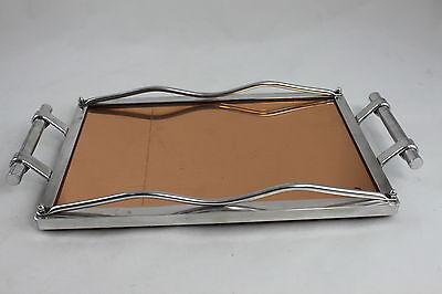 rechteckiges ART DECO Spiegeltablett Servierbrett - Bauhaus - Tablett