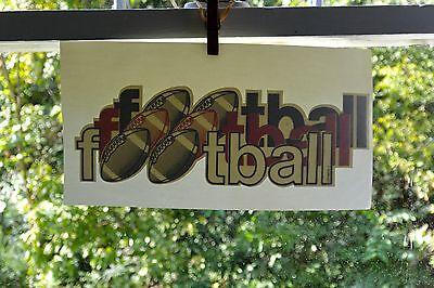 Nos Rare Htf Vintage Football Iron-on T-shirt Transfer