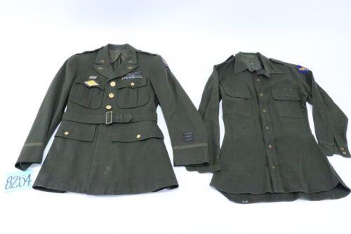Customized WWII US 9th Air Force Majors Jacket W/ Bullion Insignia & Dress Shirt