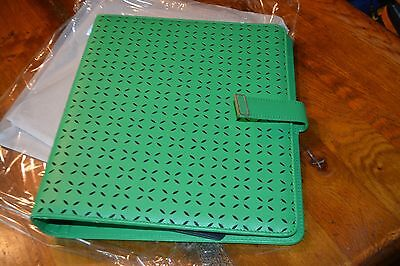 Franklin Covey Monarch Hailey GRASS Simulated Snap Binder   STUNNING