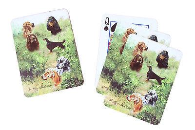 English Irish & Gordon Setter Dog Pack Playing Deck of Cards Game Perfect Gift
