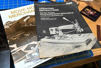Kingsley Hot Foil Stamping Machine Instruction Manual Guide Model Lm-55-nf