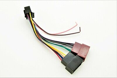 Sony CDX/ MDX/ XR ISO Wiring Harness Connector Adaptor Lead Loom Cable Wire Plug