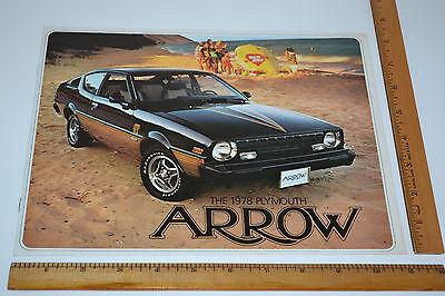True Vintage Original 1978 Plymouth Arrow Sales Brochure 10 pages Free Ship ()