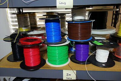 300 Feet - 20 Awg Solid Core Teflon Wire 6 Different Colors X 50 Feet