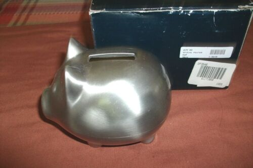 PEWTER PIG BANK NEW IN BOX BY SHERIDAN VERY DETAILED AND WON