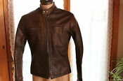 Mens Vintage Cafe Leather Jacket
