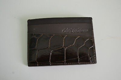 Saks Fifth Avenue Genuine American Alligator Slim Credit Card Case New