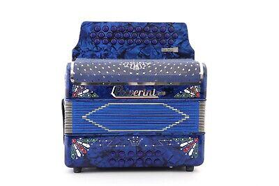 Polverini Blue Azul 3112 Accordion Acordeon GCF/SOL G TEX MEX 2 New Bonito