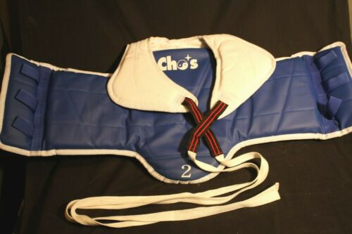 Taekwondo Chest Protector Vest — Size 2 (small) — EXCELLENT
