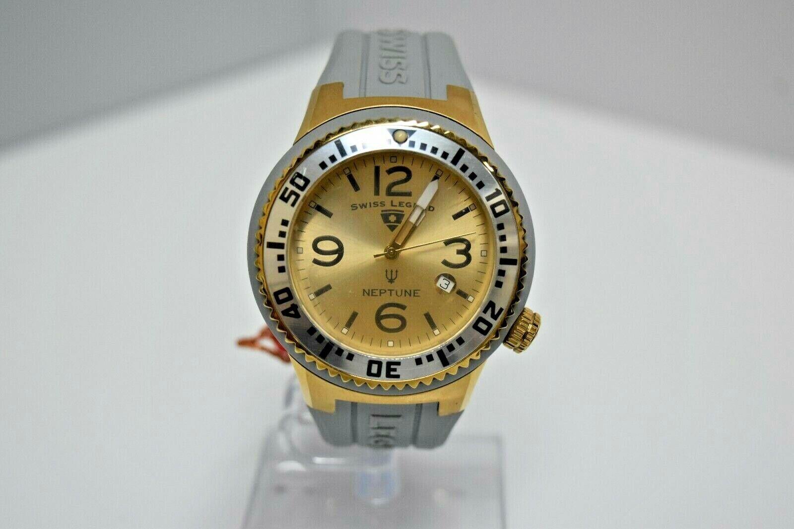Swiss Legend Swiss Sapphitek 48mm SL-21848P Watch Gray/ YG/Gold