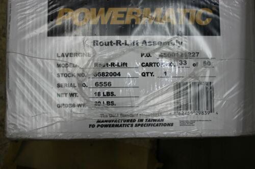 Brand New Powermatic Rout-R-Lift Assembly 6682004