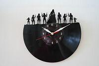 Darth Vader Army, Star W. Design Vinyl Record Wall Clock [ Black Gloss Sticker ] - handmade - ebay.co.uk