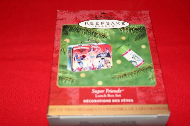 new hallmark keepsake SUPER FRIENDS 2000 lunch box set THERMOS