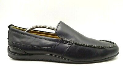 Clarks Black Leather Moc Toe Casual Slip On Driving Loafers Shoes Men's 11 M