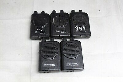Lot Of 5 Motorola Minitor Iv 4 Low-band Vhf Two-way Handheld Radios See Photos