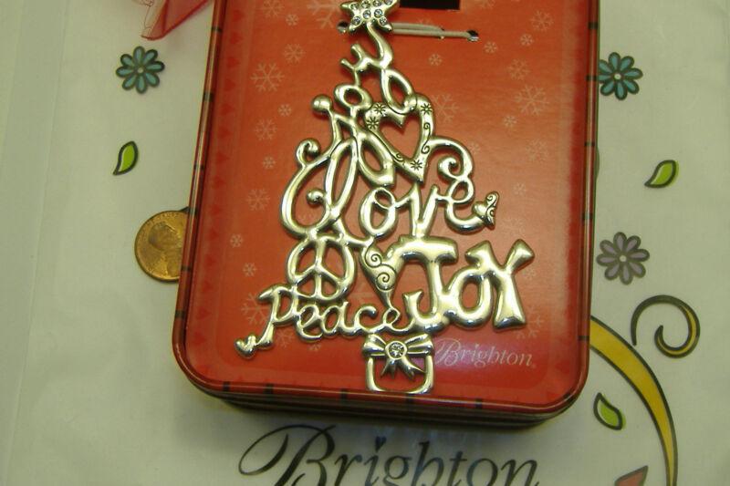 Brighton christmas ornament tree glee love joy peace star NWT w tin box NEW