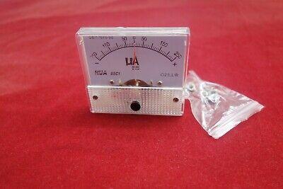Dc Minus Zero Plus -250ua - 250ua Analog 85c1 Analogue Ammeter Amp Panel Meter