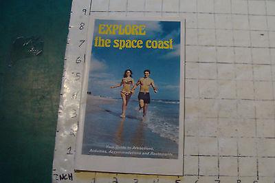 vintage travel brochure: EXPLORE the space coasst (florida) 56pgs