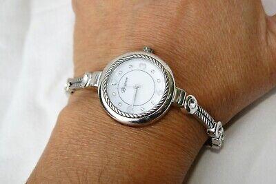 Authentic Brighton Rockville Silver & Crystal Wrist Watch