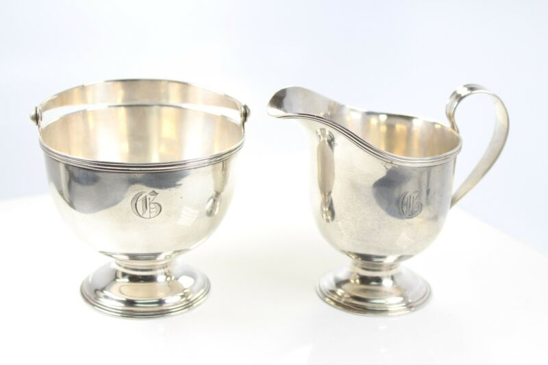 STERLING SILVER TIFFANY & CO CREAMER AND SUGAR SET 1907-47 DATE #6400