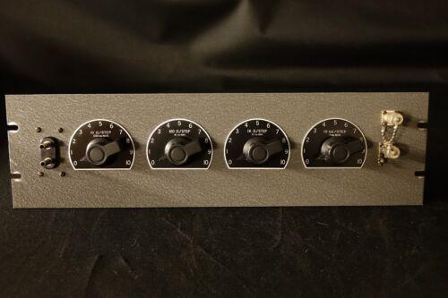 Precision Rack Mount 4 Gang Decade Resistor 0.05% Tolerance - TESTED