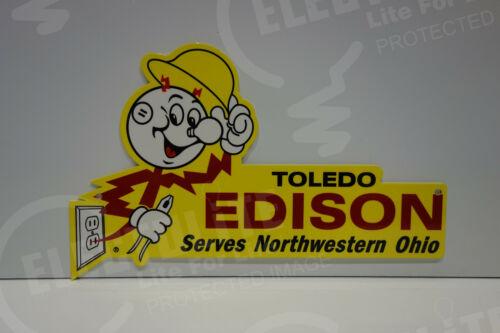 Reddy Kilowatt TOLEDO EDISON DIE CUT SIGN GREAT COLORS ELECTRICIAN GIFT SIGN