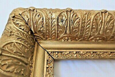 BrassGold Tone Frame 3 12x 5 VintageAntique Metal Frame
