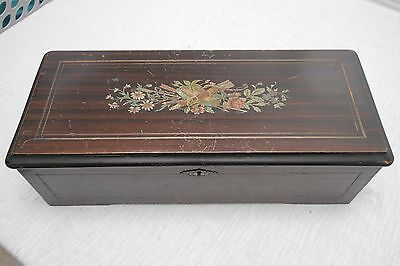 ANTIQUE CYLINDER MUSIC BOX - PLAYS BEAUTIFULLY!!