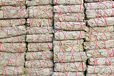 """Lot 100 White Sage Smudge Stick Wands 4"""" - 5"""" House Cleansing Negativity Removal"""