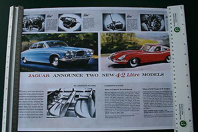 'Jaguar Announce Two New 4.2 Litre Models', Repro Poster