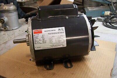 New Dayton 1 Hp Electric Ac Motor 115208-230 Vac 3450 Rpm 1 Phase 56 Frame