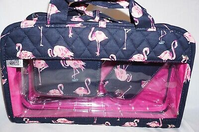 Vera Bradley Travel Bundle Flamingo Fiesta NWT