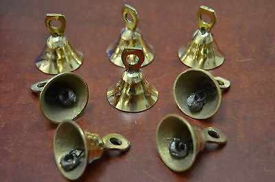 "8 PCS HANDMADE COW GOAT SHEEP SOLID BRASS BELLS 1 1/2"" #T-218"
