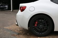 17 inch black 86 wheels 5x100 with tyres Campbelltown Campbelltown Area Preview