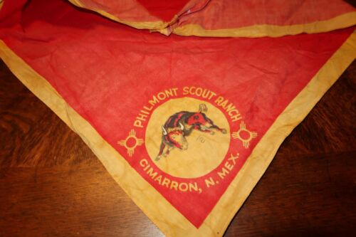 Vintage PHILMONT SCOUT RANCH Boy Scouts TRIANGLE Shaped BANDANA NECKERCHIEF