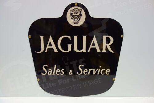 JAGUAR SALES & SERVICE HEAVY DUTY STEEL ENAMEL COAT DEALERSHIP SIGN! ALMOST OUT!