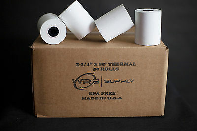 2 14 X 85 Thermal Paper 50 Rolls For Verifone Omni 3200