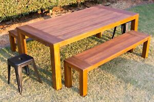 Outdoor Setting Table and Bench