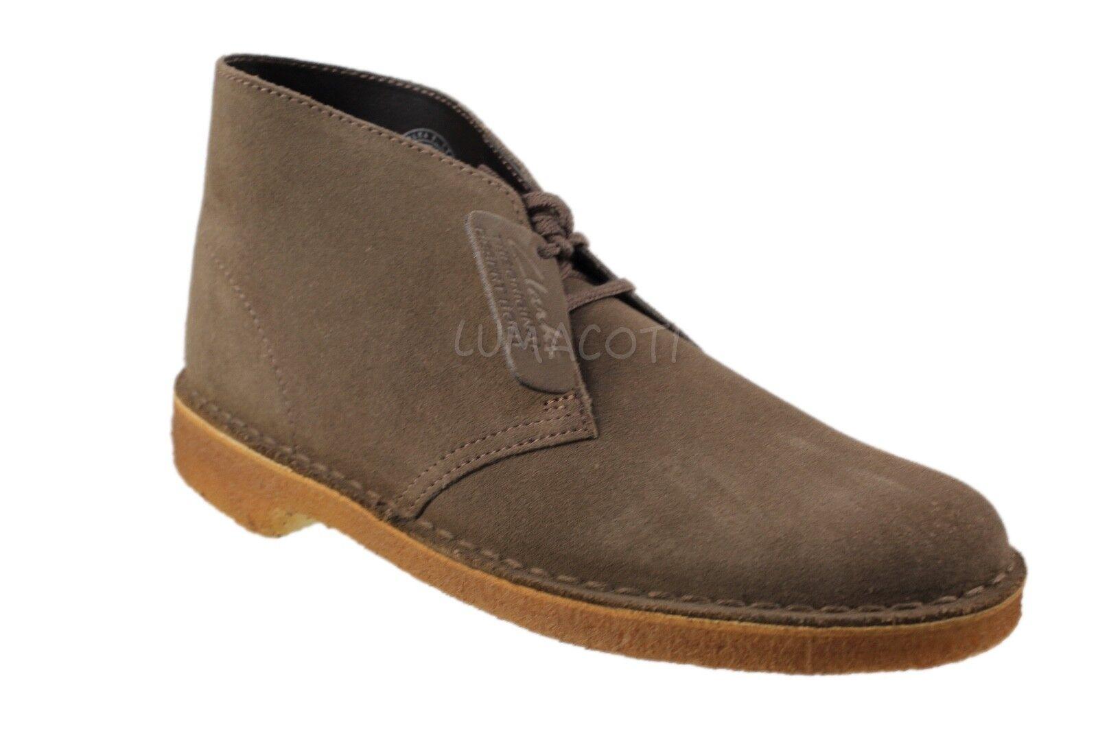 Mens Clarks Originals Desert Boot Olive Suede [26182682]