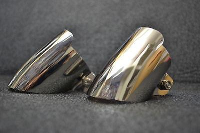 Chrome Auspuffblende Doppelrohranlage, Mercedes W123, W124, W201 w116 w126 u.s.w